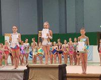 Rhythmische Gymnastinnen der Sportunion ADM beim Corvinus Pokal 2018